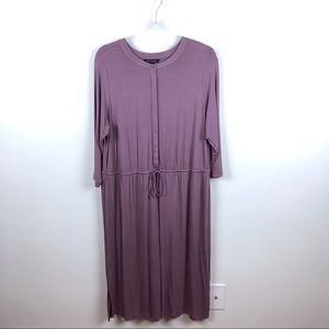 H by Halston Long Sleeve Dress Purple 18W